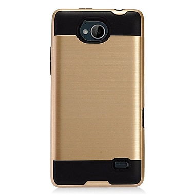 Insten Hybrid Dual Layer Brushed Metal Hard TPU Shockproof Case Cover For ZTE Tempo - Gold/Black