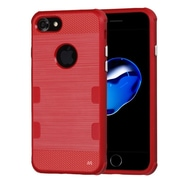 Insten Natural TUFF Cosmic Space TPU Candy Skin Case Cover (Military-Grade Certified) For Apple iPhone 7 - Red