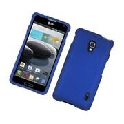 Insten Hard Rubber Cover Case For LG Optimus F6 - Blue