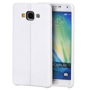 Insten Leather Look Finish Slim Jacket TPU Rubber Gel Case For Samsung Galaxy A5 - White