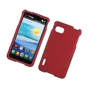 Insten Hard Rubber Coated Case For LG Optimus F3 LS720 - Red