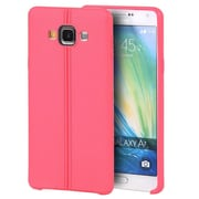 Insten Leather Look Finish Slim Jacket TPU Rubber Gel Case For Samsung Galaxy A7 - Hot Pink