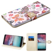 Insten Butterfly Wonderland Leather Case For ZTE Grand X Max 2 / Imperial Max / Kirk / Max Duo 4G / Zmax Pro - Purple