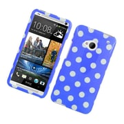 Insten Polka Dots Hard Plastic Cover Case For HTC One M7 - Blue/White