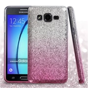 Insten Hard Dual Layer Glitter TPU Cover Case For Samsung Galaxy On5 - Pink