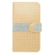 Insten Folio Leather Wallet Diamond Case with Card slot For Kyocera Hydro Wave - Gold/Silver