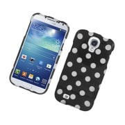 Insten Polka Dots Hard Plastic Case For Samsung Galaxy S4 - Black/White