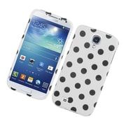 Insten Polka Dots Hard Plastic Case For Samsung Galaxy S4 - White/Black