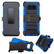 Insten Advanced Armor Hybrid Hard PC/Silicone Cover Case with Holster Clip For Samsung Galaxy S8 - Black/Blue