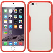 Insten Fusion Candy TPU Embed Tinted Rubber Gel Shell Case For Apple iPhone 6 / 6s - Red
