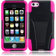 Insten For iPhone Lite Waterproof Cover holster Case with Stand - Black +Hot Pink1