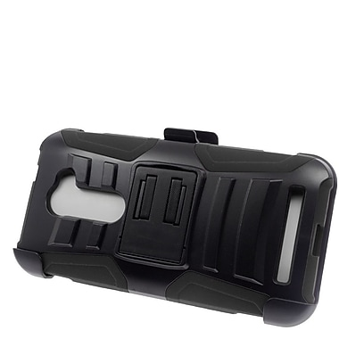 Insten Hard Hybrid Plastic Silicone Stand Case with Holster For ASUS Zenfone 2E - Black
