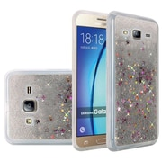 Insten Liquid Quicksand Glitter Fused Flexible Hybrid TPU Cover Case For Samsung Galaxy On5 - Silver