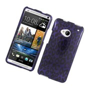 Insten Leopard Hard Case For HTC One M7 - Purple