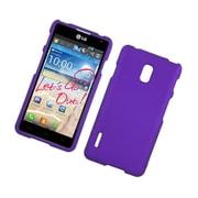 Insten Hard Rubber Case For LG Optimus F7 US780 (US Cellular) - Purple