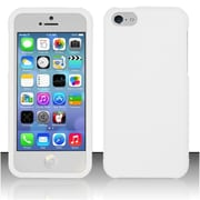 Insten Hard Rubber Coated Cover Case For Apple iPhone 5C - White