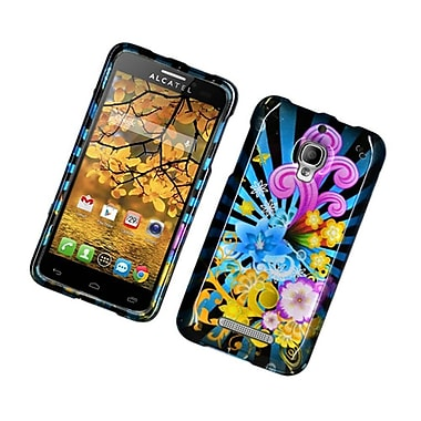 Insten Fireworks Hard Cover Case For Alcatel One Touch Fierce - Blue/Colorful