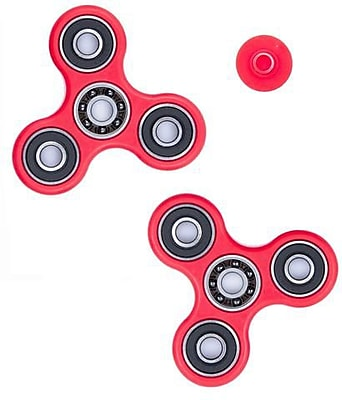 10 Pack Premium Fidget Spinner Anti Stress Toy For ADHD Increases Focus - Red