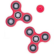 LAX Gadgets 10 Pack Premium Fidget Spinner Anti Stress Toy For ADHD Increases Focus, Red (10XFDGTSPINRED)