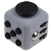 LAX Gadgets 10 Pack Fidget Cube Anxiety and Stress Reliever Focus Toys, Black/Gray (10XFDGTCUBEGRY)