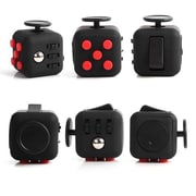 10 Pack Fidget Cube Anxiety and Stress Reliever Focus Toys - Black/Red