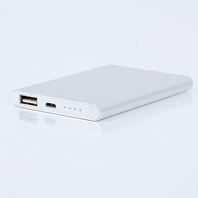 LAX Classic 12000mAh Portable Hi-Speed Power Bank - Silver