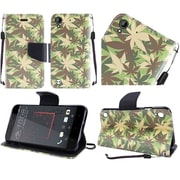 Insten PU Leather Flip Wallet Credit Card Stand Cover Case For HTC Desire 530 - Drug Herb Military Camouflage
