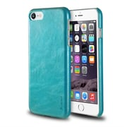 iPhone 7/ 8 Case, by Insten Ultra Slim Rear Leather Hard Shell Protective Case for Apple iPhone 7/ 8, Turquoise Blue