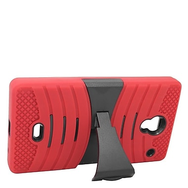 Insten Wave Symbiosis Soft Hybrid Rubber Hard Case w/stand For Sharp Aquos Crystal - Red/Black