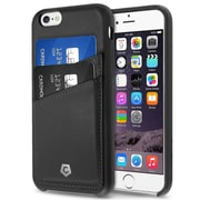 """Cobble Pro For iPhone 6 6s 4.7"""" PU Leather Designer Wallet Case with ID Credit Card Slot Holder Back Cover - Black"""
