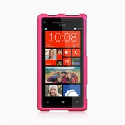 Insten Hard Rubber Cover Case For HTC Windows Phone 8X - Hot Pink
