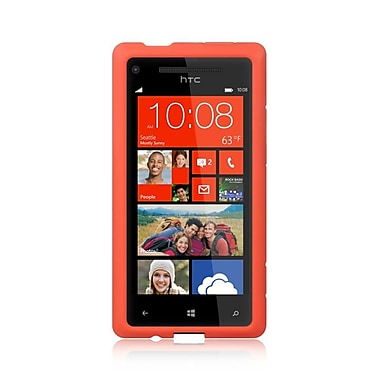 Insten Silicone Rubber Cover Case For HTC Windows Phone 8X - Red