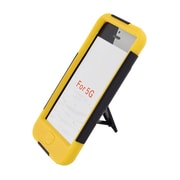 Insten Hard Hybrid Plastic Silicone Case with stand for iPod Touch 5th Gen - Black/Yellow