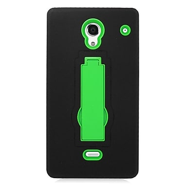 Insten Symbiosis Hard Hybrid Rubber Coated Silicone Case w/stand For Sharp Aquos Crystal - Black/Green