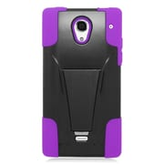 Insten Hard Hybrid Plastic 2-Layer Case with stand For Sharp Aquos Crystal - Purple