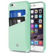 "Cobble Pro For iPhone 6 6s 4.7"" PU Leather Designer Wallet Case with ID Credit Card Slot Holder Back Cover - Mint Green"