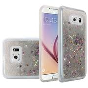 Insten Liquid Quicksand Glitter Fused Flexible Hybrid TPU Cover Case For Samsung Galaxy S6 - Silver