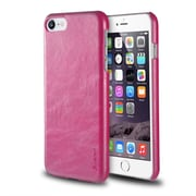 iPhone 7 Case, by Insten Ultra Slim Rear Leather Hard Shell Protective Case for Apple iPhone 7 - Hot Pink