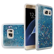 Insten Liquid Quicksand Glitter Fused Flexible Hybrid TPU Cover Case For Samsung Galaxy S7 Edge - Light Blue