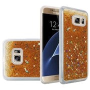 Insten Liquid Quicksand Glitter Fused Flexible Hybrid TPU Cover Case For Samsung Galaxy S7 Edge - Gold