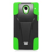 Insten Hard Hybrid Plastic 2-Layer Case with stand For Sharp Aquos Crystal - Green