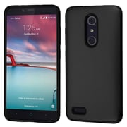 Insten Glossy Dual Layer Hybrid Hard TPU Cover Protective Case For ZTE Zmax Pro - Black