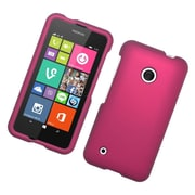 Insten Hard Rubberized Cover Case For Nokia Lumia 530 - Hot Pink