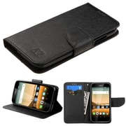 Insten Book-Style Leather Fabric Case w/stand/card slot For Huawei Union - Black
