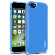 iPhone 7 Case, by Insten Jelly TPU Rubber Skin Gel Slim Case For Apple iPhone 7 - Blue