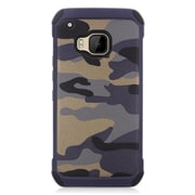 Insten Camouflage Hard Hybrid Silicone Case For HTC One M9 - Gray/Black