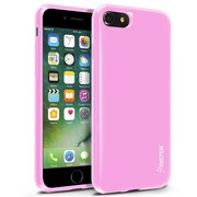 iPhone 7 Case, by Insten Jelly TPU Rubber Skin Gel Slim Case For Apple iPhone 7 - Light Pink