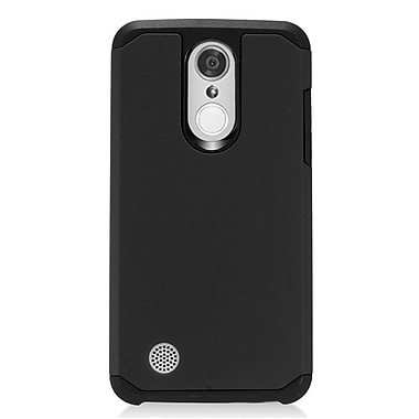 Insten Dual Layer Hybrid Rubberized Hard TPU Shockproof Case Cover For LG Aristo - Black