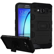 Insten Storm Tank Hybrid Hard/TPU Protective Case Cover [Military-Grade Certified] For Samsung Galaxy On5 - Black