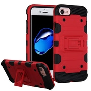 Insten Storm Tank Hybrid Hard/TPU Protective Case [Military-Grade Certified] For Apple iPhone 7 / 6s / 6 - Red/Black